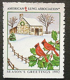 画像1: アメリカ1992年クリスマスシール
