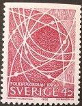 スウェーデン 1968年国民高校100年 切手