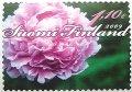 フィンランド 2009年 シャクヤク 切手