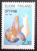 フィンランド 1987年 通信社 百年祭 1種