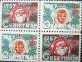 アメリカ 1957年 クリスマスシール