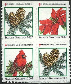 画像2: アメリカクリスマスシール 2002年