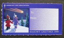 他の写真1: アメリカ 2001年クリスマスシール 星